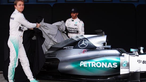 Nico Rosberg and Lewis Hamilton Mercedes W06