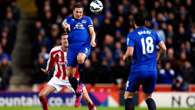 Phil Jagielka Everton v Stoke City