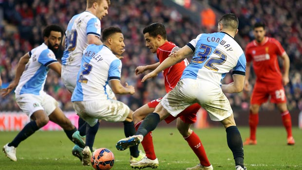 Philippe Coutinho Liverpool v Blackburn Rovers FA Cup