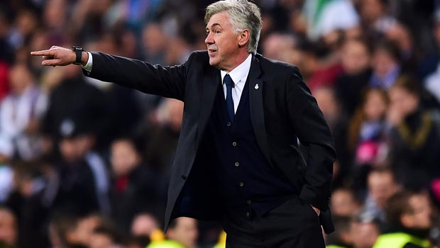 Real Madrid manager Carlo Ancelotti Champions League