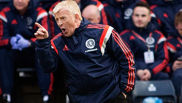 Scotland manager Gordon Strachan UEFA Euro 2016 Qualifier