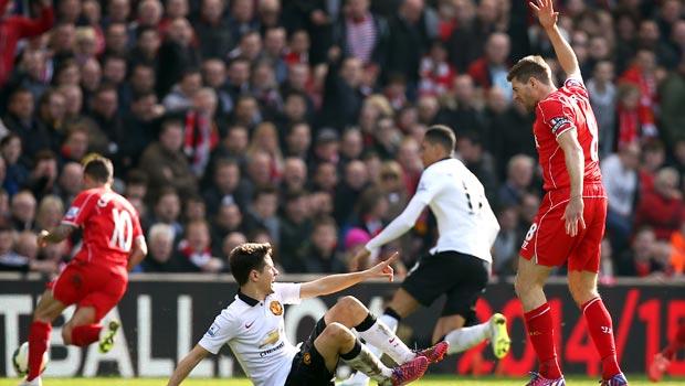 Steven Gerrard Liverpool v Manchester United