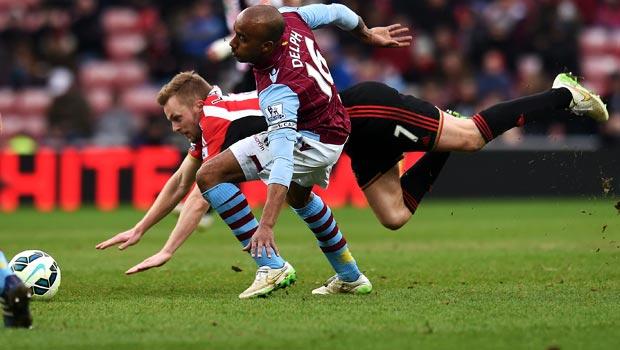 Sunderland Sebastian Larsson and Aston Villa Fabian Delph