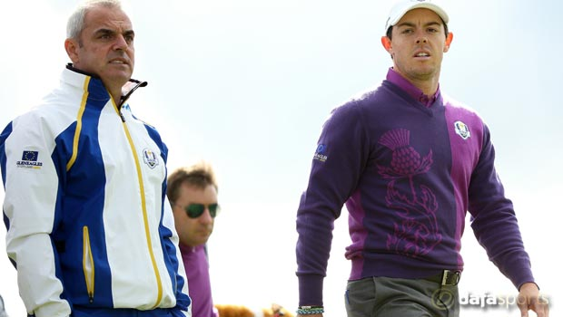 Paul McGinley and Rory McIlroy Masters Golf