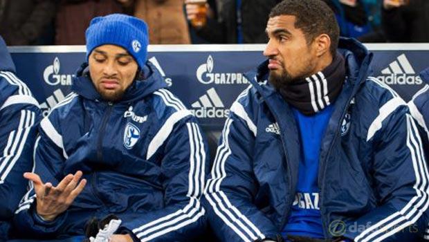 Schalke Kevin-Prince Boateng and Sidney Sam
