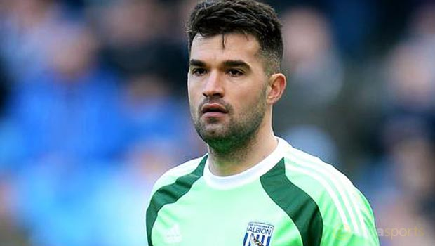 West Brom goalkeeper Boaz Myhill
