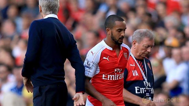Arsenal Theo Walcott and Arsene Wenger