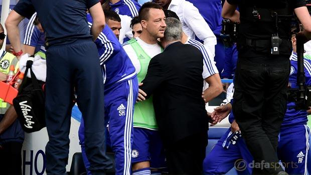 Chelsea boss Jose Mourinho and John Terry