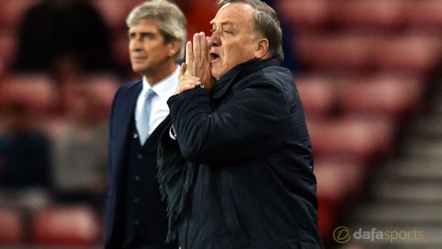 Dick Advocaat Sunderland v Manchester City