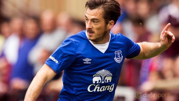 Everton left back Leighton Baines