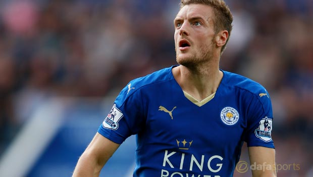 Leicester City forward Jamie Vardy