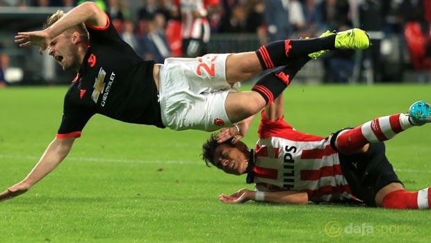 Luke Shaw Man United v PSV Eindhoven