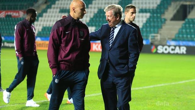 Manager Roy Hodgson and Jonjo Shelvey Euro 2016