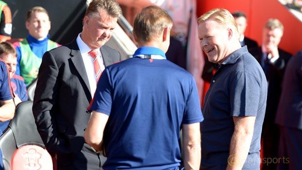 Manchester United Louis van Gaal and Southampton Ronald Koeman