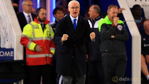 West Ham v Leicester City Claudio Ranieri