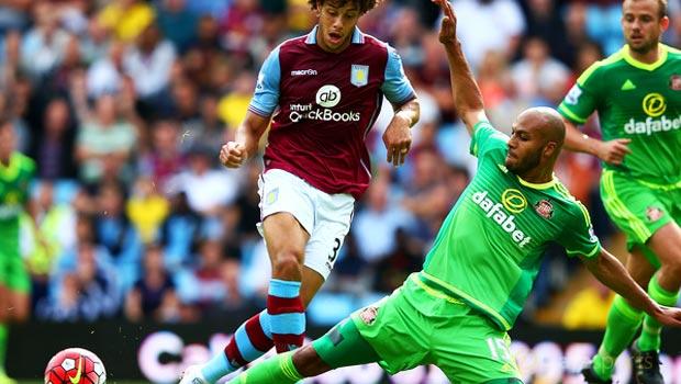 Younes Kaboul Sunderland v Aston Villa