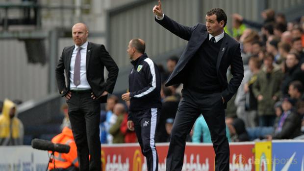 Blackburn Gary Bowyer and  Burnley Sean Dyche