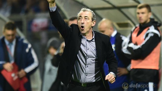 Bosnia coach Mehmed Bazdarevic Euro 2016