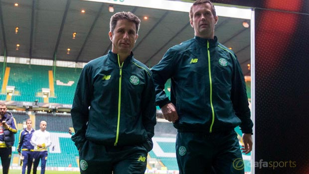 Celtic manager Ronny Deila and assistant coach John Collins