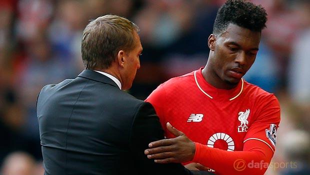 Liverpool boss Brendan Rodgers and Daniel Sturridge