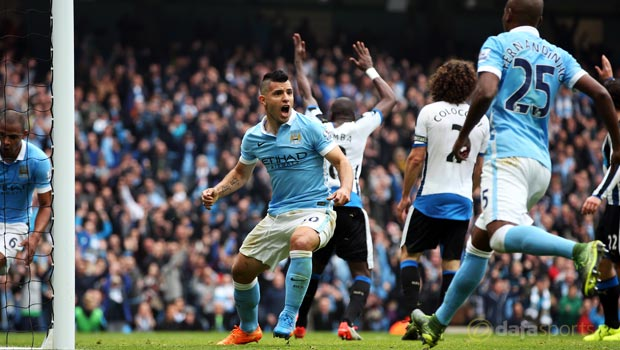 Manchester City v Newcastle United Sergio Aguero
