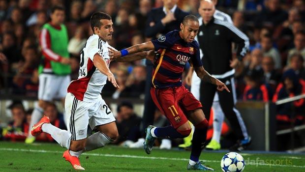 Neymar Barcelona v Bayer Leverkusen Champions League
