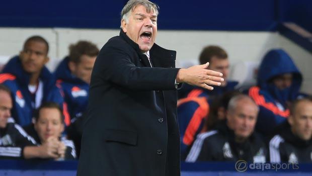 West Bromwich Albion v Sunderland manager Sam Allardyce