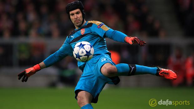 Arsenal goalkeeper Petr Cech Champions League
