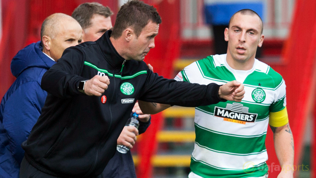 Celtic Scott Brown and Ronny Deila