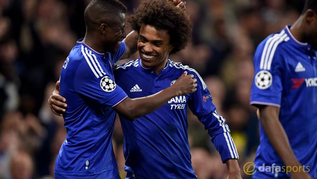 Champions League Chelsea v Dynamo Kiev Willian