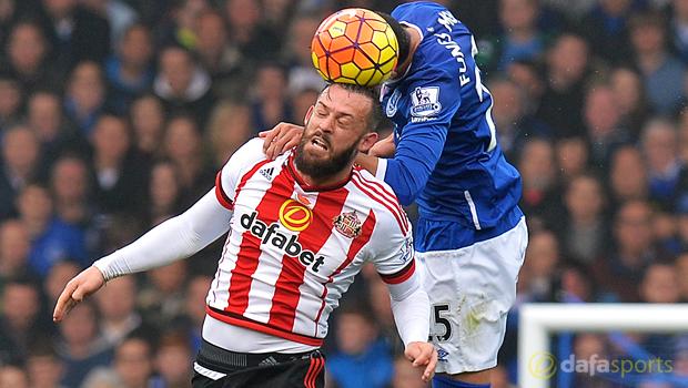 Everton v Sunderland striker Steven Fletcher