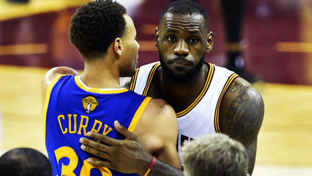 Golden State Warriors and Cleveland Cavaliers LeBron James