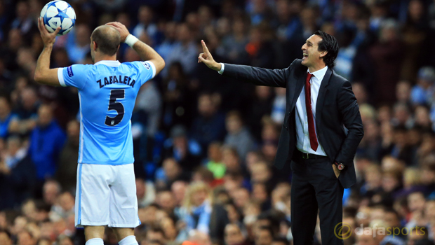 Manchester City v Sevilla Unai Emery Champions League