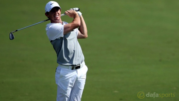 Rory McIlroy in Dubai Golf