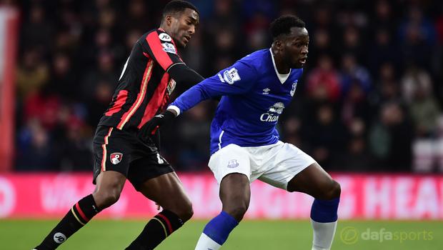 AFC Bournemouth Sylvain Distin and Everton Romelu Lukaku