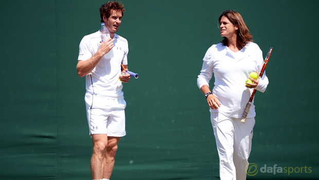 Andy Murray and coach Amelie Mauresmo Tennis