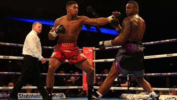 Anthony Joshua and Dillian Whyte Boxing