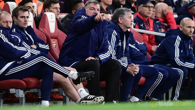 Arsenal v Sunderland manager Sam Allardyce
