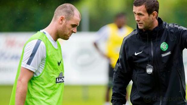 Celtic Ronny Deila and Anthony Stokes