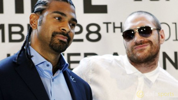 David Haye and Tyson Fury Boxing