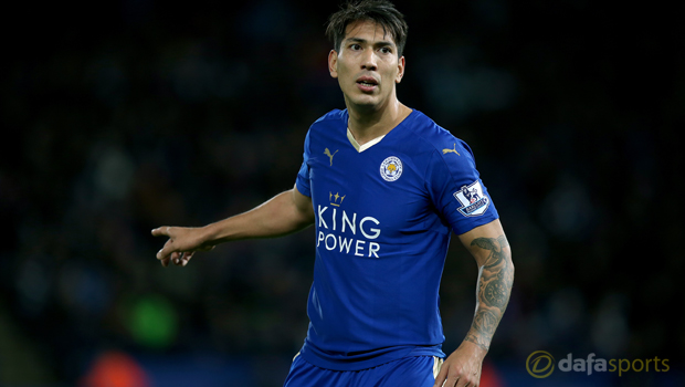 Leicester City striker Leonardo Ulloa