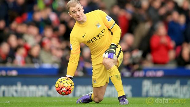 Man City goalkeeper Joe Hart