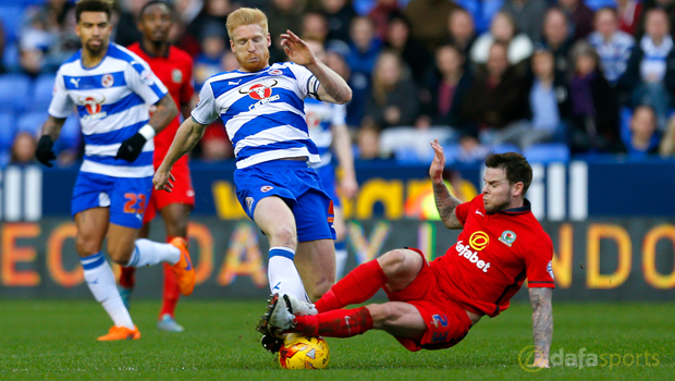 Reading Paul McShane and Blackburn Rovers Danny Guthrie