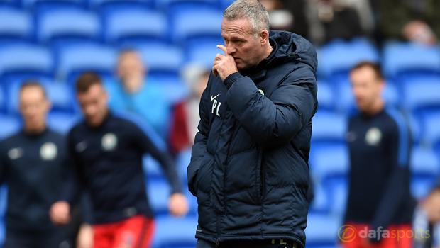 Cardiff City v Blackburn Rovers manager Paul Lambert
