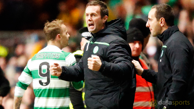 Celtic boss Ronny Deila and Leigh Griffiths