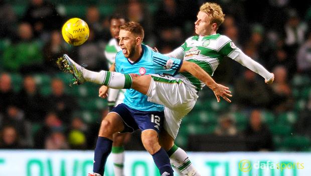 Gary Mackay-Steven Celtic v Hamilton Academical