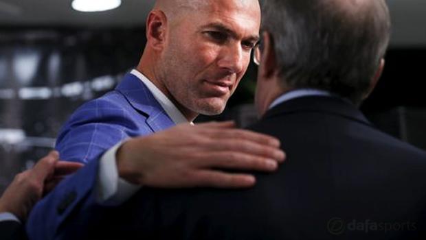 New Real Madrid manager Zinedine Zidane