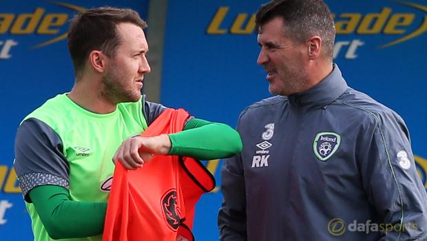 Republic of Ireland Roy Keane and Aiden McGeady Euro 2016