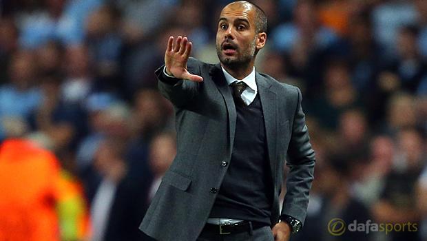 Bayern manager Pep Guardiola