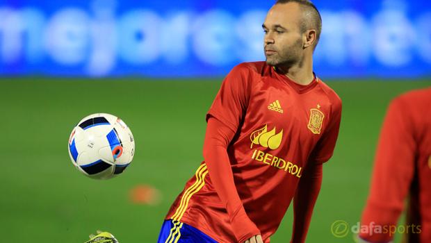 Spain Andres Iniesta Euro 2016